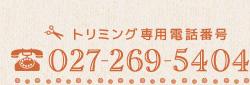 トリミング専用 027-269-5404